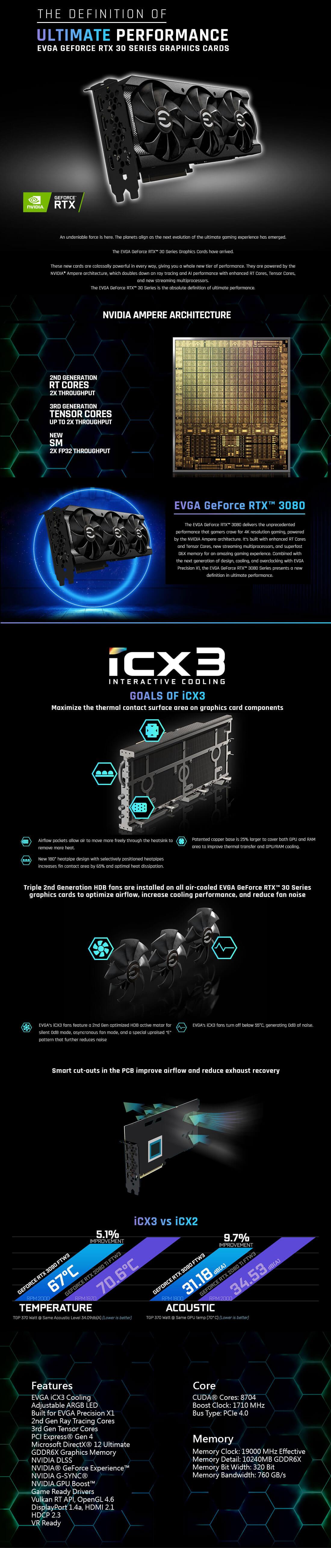 EVGA GeForce RTX™ 3070 XC3 ULTRA GAMING - 8GB GDDR6 (Sao chép)